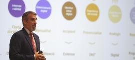 El secretari d'Estat de Transformació Digital i Projectes Estratègics, César Marquina, ha presentat el pla de transformació digital.