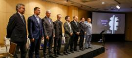 Un moment del debat amb els sets caps de llista que va organitzar la Confederació Empresarial Andorrana.