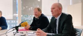 Jordi Font i Joaquim Miró al despatx del grup socialdemòcrata al Consell General.