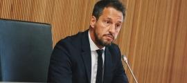 El president del grup socialdemòcrata, Pere López, el dia que va presentar les esmenes.