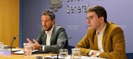 López i Padreny van presentar les esmenes al text de mesures en matèria d'arrendaments d'habitatge i millora del poder adquisitiu.