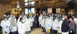 El contingent, format per 39 sanitaris cubans contractats per donar suport en el pitjor moment de la pandèmia.