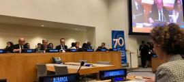 La ministra d'Afers Exteriors, Maria Ubach, en la reunió d'alt nivell sobre la Declaració Universal dels Drets Humans.