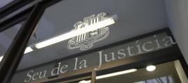 La porta de la Seu de la Justícia.