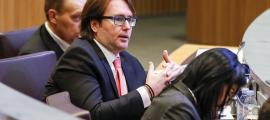 El parlamentari d'UL-ILM Carles Naudi en una sessió del Consell General.