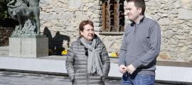 Els candidats de d'Acord d'Andorra la Vella, ahir.