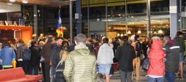 'acte de commemoració a la Plaça del Poble va consistir en la lectura d'un manifest de l'ANC Andorra.
