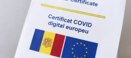 Imatge del certificat Covid d'Andorra.
