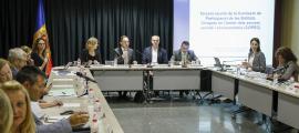 Tercera reunió de la Comissió de Participació d'Entitats Cíviques, ahir a la tarda.