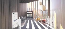Projecció de com serà el centre de recerca en immunologia que Grifols vol instal·lar a Ordino.