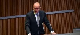 El ministre de Justícia i Interior, Josep Maria Rossell, en un moment de la seva intervenció ahir al Consell General.