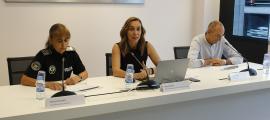 Presentació del dispositiu per la Vuelta a la seu d'Andorra Turisme, ahir al matí.