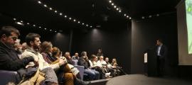 Un instant de la reunió informativa celebrada ahir al vespre a Sant Julià de Lòria.