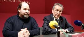 Joan Marc Miralles i Jaume Bartumeu en una compareixença anterior.