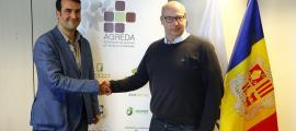 Els presidents d'Agreda i Federec, Miquel Àngel Armengol i Olivier Dalle, ahir.