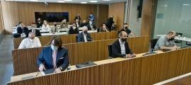 Un moment de la reunió d'ahir de la comissió d'estudi per les pensions.