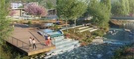 Imatge del projecte guanyador del concurs d'idees per al nou parc d'Encamp, 'El bany de l'Ossa'.