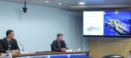 El ministre Jordi Gallardo i el director d'Actua Innovació, Marc Pons, van presentar ahir el projecte.