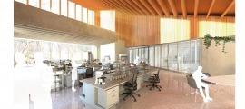 Recreació de com serà el centre de recerca que construirà Grifols a Ordino.