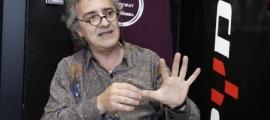 Joan Seguí a la seu de Podem Andorra.