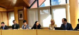 Sessió del consell del comú de la Massana, ahir al matí.
