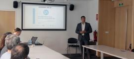 Jordi Gallardo i Ferran Costa van mantenir una reunió amb empleats d'Andorra Telecom.