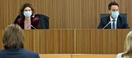 La ministra d'Afers Exteriors, Maria Ubach, en la compareixença d'ahir.