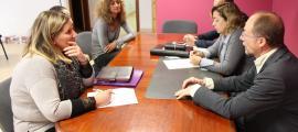 Els candidats de Progressistes-SDP es van reunir amb comerciants i hotelers ahir.