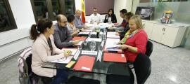 Un moment de la reunió de la taula de Joventut, ahir a la tarda.