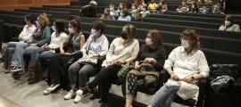 Un moment de l'assemblea extraordinària del SEP d'ahir a Escaldes-Engordany.