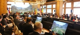 La reunió de ministres d'Afers Exteriors iberoamericans que es va celebrar el novembre del 2019 a Soldeu.