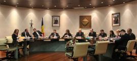 Un moment de la sessió de consell de comú d'ahir a la tarda a Encamp.