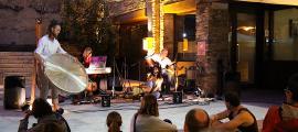 Un moment del concert d'Amaru, ahir en el marc del cicle Nits obertes d'Ordino.
