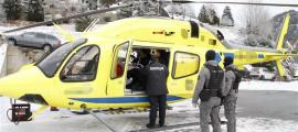 El fugitiu va ser traslladat en helicòpter fins a l'aeroport del Prat.