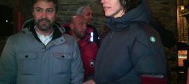 Maria Alaminos i David Rios, a la porta del Centre Cultural la Valireta, ahir.