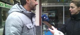 Rios va fer les declaracions davant l'oficina de turisme d'Encamp, ahir al matí.
