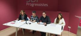 Zoppetti, Montolio, Donsión i Moliné, ahir a la seu de Progressistes-SDP.