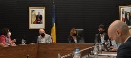 Un moment del consell de comú que va tenir lloc ahir a Escaldes-Engordany.