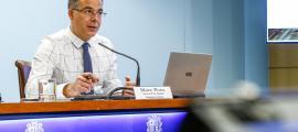 Marc Pons en la roda de premsa de presentació de les prioritats en Igualtat i Participació Ciutadana, ahir.