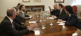 La reunió del cap de Govern i el titular de Salut amb els consellers generals del PS.