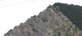 El rescat del roc del Quer es va fer amb helicòpter, la matinada de dimecres.