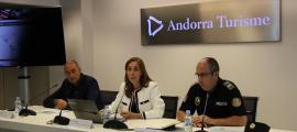 Bonell, Pedra i Torné van presentar ahir el dispositiu que garantirà el desenvolupament de l'etapa andorrana de la Vuelta.