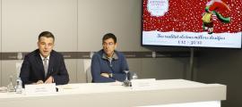 Marc Pons i Miquel Canturri van presentar la tercera edició del Poblet de Nadal, ahir.