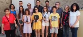 L'entrega dels premis es va fer dissabte passat a la biblioteca Sant Agustí.