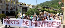 Manifestació dels ramaders de Sort contra la fauna salvatge, el passat 28 de juny.