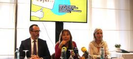 Filloy, Marsol i Treig van presentar l'informe de la joventut d'Andorra ahir al matí a l'Art Hotel.