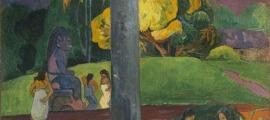 'Mata Mua', de Gauguin (oli sobre tela, 1892, 90 per 69 centímetres).