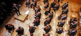Un moment del concert de Cap d'Any dirigit per Francesc Prat.