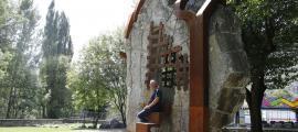 Andorra, Encamp, Joan Canal, Festejador, escultura, Prat Gran