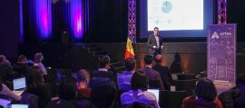 Experts de diferents parts del món van intervenir durant la jornada del primer Open Innovation Challenge for a Smart and Sustainable Andorra.